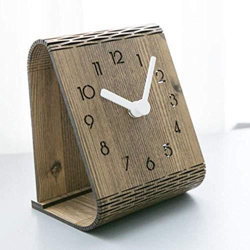PIVFEDQX Relojes Reloj Simple Reloj de Mesa Decoración de Mesa Reloj de Dormitorio Reloj de péndulo silencioso Reloj de Pared para el hogar
