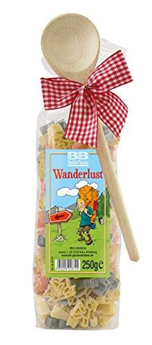Pasta Präsent Wanderlust mit bunten Wanderer-Nudeln handgefertigt in deutscher Manufaktur