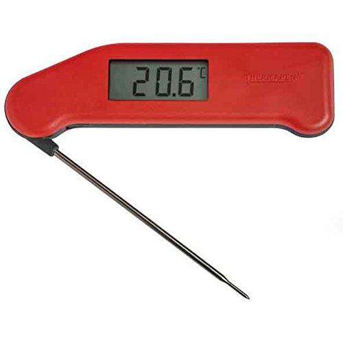 eTTg 1509564 digitale thermometer, contactloos, infrarood, IR-laser, hoofdlichaam en oppervlaktetemperatuur, roestvrij staal, blauw, 1 stuk