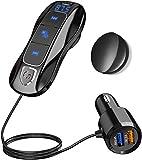 Bluetooth 5.0 FM Transmitter, SONRU Bluetooth Auto Radio Adpter Freisprecheinrichtung Dual USB Ports...