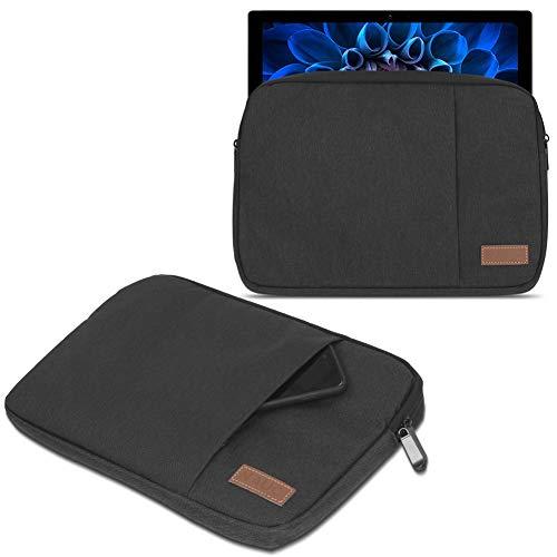 UC-Express Schutzhülle kompatibel für Acer Switch Alpha 12 Hülle Tasche Notebook Schwarz/Grau Cover Case, Farbe:Schwarz