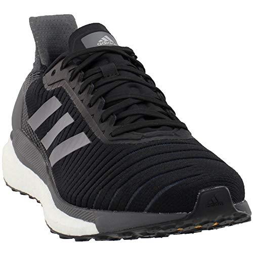adidas Mens Solar Glide 19 Running Casual Shoes, Black, 6.5