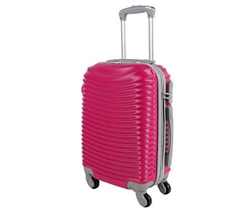 Trolley da cabina valigia rigida 4 ruote in abs policarbonato antigraffio e impermeabile compatibile voli lowcost come Easyjet Rayanair art 2030