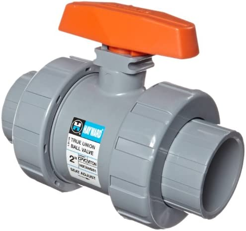 Hayward TB2200ST Series TB True Union Ball Valve Socket Threaded End CPVC with FPM Seals 2 Size product image