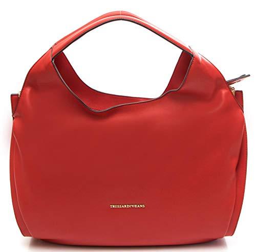 Trussardi BELLFLOWER ECOLEATHER HOBO BAG 75B00332 RED