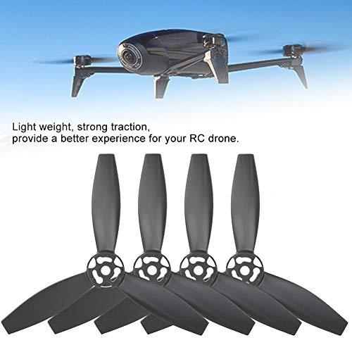RC Drone Propellerblatt, 4 Stück RC Quadcopter Propellerblatt Upgrade Teile kompatibel mit Bebop 2 Drone(4 Stück, schwarz)