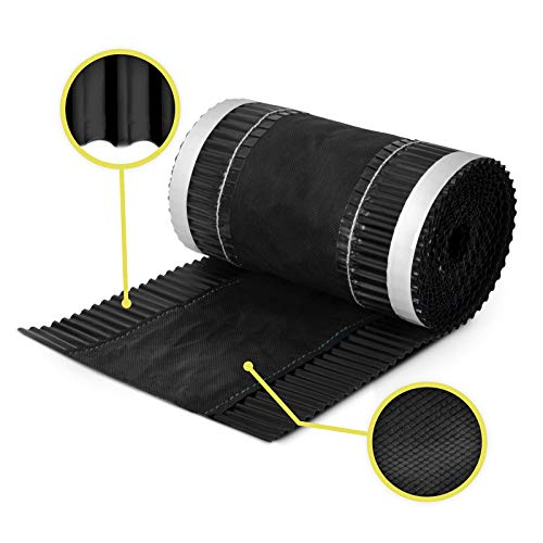 390 mm Wide 5m Long Black (RAL-9005) roof Ridge Vent Tape