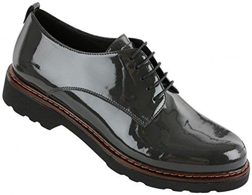 Rohde Bangok Damen Halbschuhe Schuhe Schnürschuhe 7923, Größe:D 40, Farbe:Dunkelgrautöne