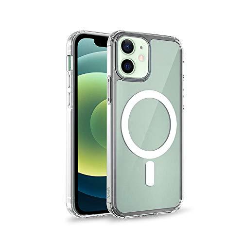 Inv Plus - Funda con imán de suave TPU para Apple iPhone 12 Mini transparente