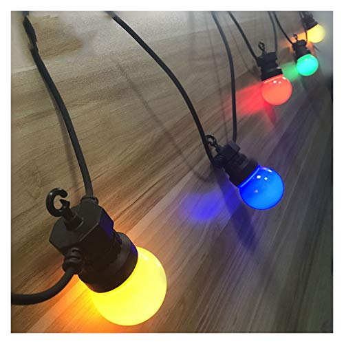 DZHT IP65 LED G50 Multi-color Light Bulb String Can Be Connected To Outdoor Color String Lights, Used For Weddings, Christmas Wreaths And Parties