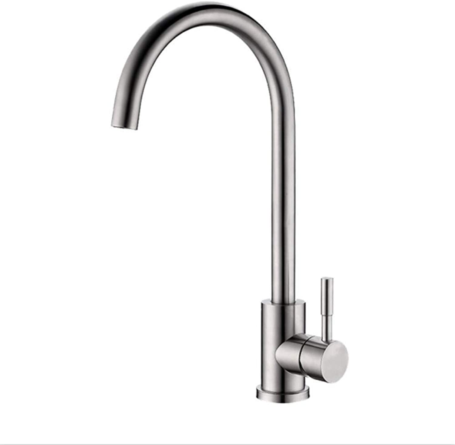 Water Tap Kitchen Taps Faucet Modern Kitchen Sink Taps Stainless Steelkitchen Faucet Stainless Steel Main Body Wash Dish Basin Cold and Hot Water Faucet redary Sink Faucet
