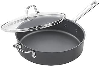 Emeril Lagasse Dishwasher safe Nonstick Hard Anodized Covered Deep Saute Pan, 5-Quart ,Gray