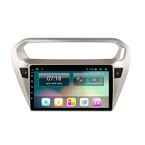 GTFHUH Navegador GPS para Coche para Peugeot 301 1080P Pantalla táctil FM Am RDS Radio Mirror Link para teléfono iOS/Android USB DSP SWC Soporta Dab +, WiFi + 4G