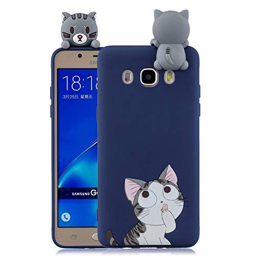 Keteen Cover Samsung J5 2016 Silicone Custodia Galaxy J510 3D Gatto TPU Dipinto Colorato Flessibile Bumper per Samsung Galaxy J5 2016 Anti Graffio Ultra Sottile Protettiva Case
