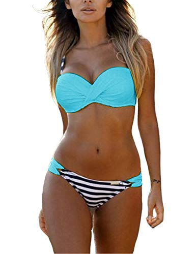 Yuson Girl Bikini Costumi da Bagno Donna Bikini Costume Intero Costumi da Bagno Donna con Tinta Unita …