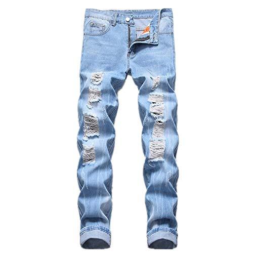 N\P Hombres Jeans Pantalones Hombres Slim Retro Jeans Carta Pantalones Vaqueros Rectos Pantalones Atrapados Gentleman