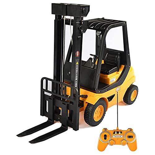 ZDYHBFE Vehículo de ingeniería eléctrica Carretilla elevadora Recargable Coche de Juguete para...