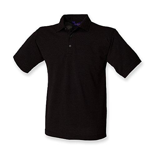Henbury Heavy Pique Polo Shirt : Color - Black : Size - 5XL