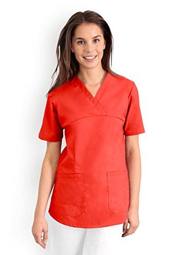 CLINIC DRESS - Damen-Schlupfkasack Mandarinrot 95° mandarinrot L