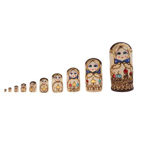 Toygogo 10-TLG. Schloss Matroschka, Matruschka, Matrjoschka, Babuschka Russische Puppen