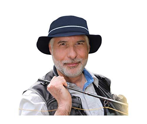 CAPCOOL Hut mit schmaler oder breiter Krempe, WELTNEUHEIT (100% UV-Schutz!) (Blau, 57-59 (schmale Krempe))