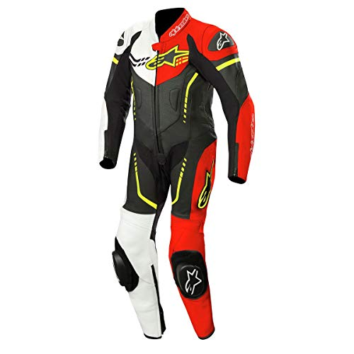 Alpinestars Youth Gp Plus Leather Suit 1 Pc Nero Bianco Rosso Fluo Giallo Fl 140