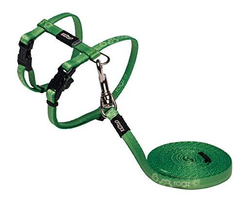 Rogz Catz KiddyCat Lead and Harness, Extra Small, Lime Paw