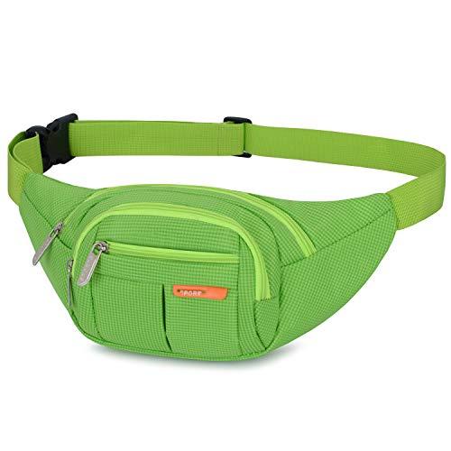 AirZyx wasserdichte Bauchtasche Geeignet für Reise, Sport & alle Outdoor Aktivitäten, Hüfttasche für Damen und Herren, Bauchtasche Wasserdicht Hüfttaschen für Running (Grün)