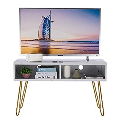 onEveryBaby Marble Iron Foot TV Cabinet [106x50...