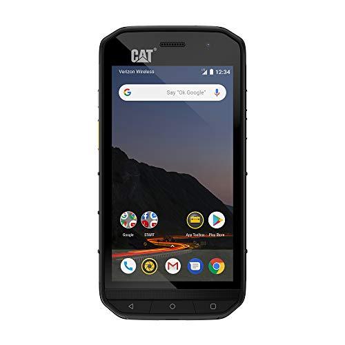 CAT PHONES S48c Unlocked Rugged Waterproof Smartphone, Verizon Network Certified (CDMA), U.S. Optimized (Single Sim) with 2 Year Warranty Including 2 Year Screen Replacement CS48SABNAMUNOD,Black