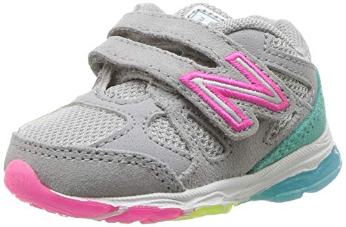 New Balance - Pre-School KV888V1P Enfants Chaussures, 34.5 EUR - Width W, Silver Mink/Rainbow