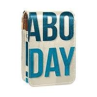 化粧ポーチリップスティックケース外側ミニバッグトラベルコスメティックポーチミラーリップスティックボックス付き労働者の日 女性向けレディースギフト