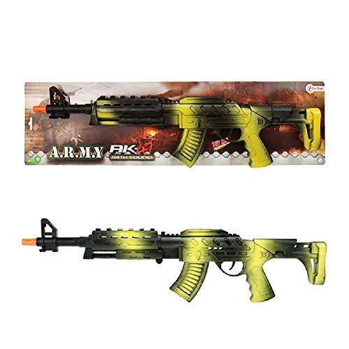 Toi-Toys 32662A AK 47 Sturmgewehr für Kinder mit Schussgeräusch Bundeswehr Handgewehr Pistole Maschinenpistole Waffe Gewehr Zielscheibe Jungen Freizeit Kinderspielzeug