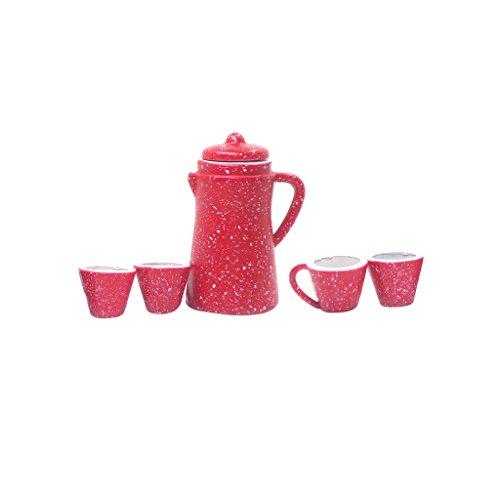 Nobranded Casa de Muñecas en Miniatura 1:12 5 Piezas de Porcelana Cafetera Tetera