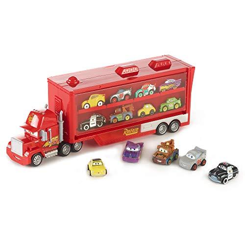 Disney Cars FRP09 - Mack Transporter Geschenkset inklusive 5 Mini Racers Spielzeugautos, Spielzeug ab 4 Jahren