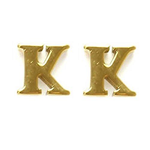 Surgicure [サージキュア] Surgicure イニシャルアルファベット ステンレス ピアス(1ペア) ゴールド K ポーチ入り sc-pps0052-2k
