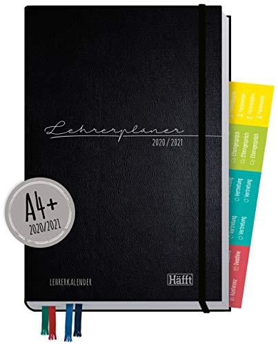 Lehrer-Planer 2020/2021 A4+ [schwarz] Hardcover Lehrerkalender Schuljahresplaner mit Sprüchen, Stickern und nützlichen Features - smart & gut gelaunt das Schuljahr planen   nachhaltig & klimaneutral