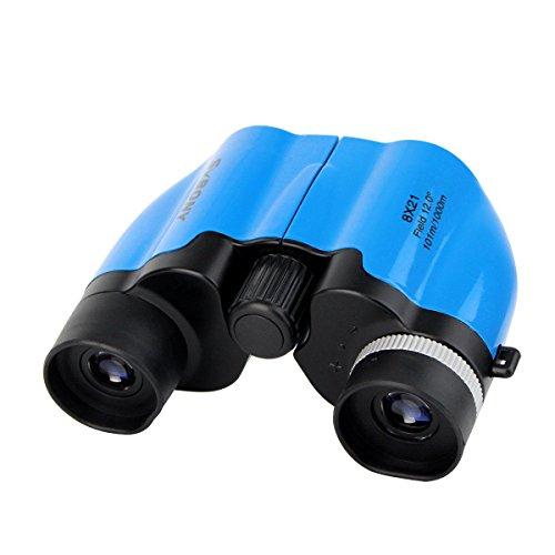 Svbony SV26 Prismticos Nios 8x21 Ultra Compacto Prismaticos Infantiles Binoculares Juguete para Nios (Azul)