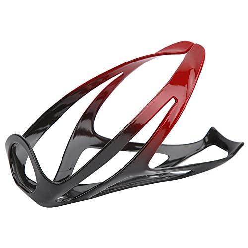 01 Portabotellas para Bicicleta, portabidón Ligero para Bicicleta de montaña para Bicicleta de Carretera(Black Red)
