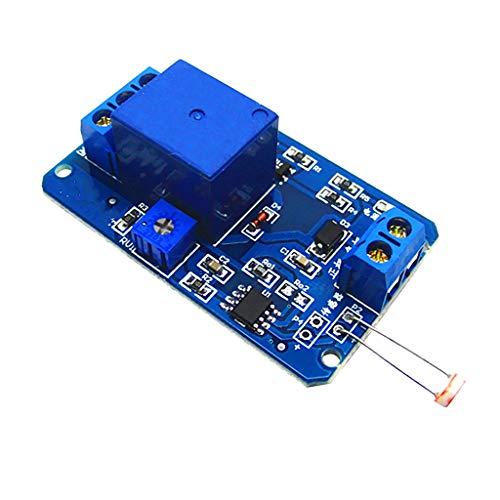 harayaa Interruptor de Control de Luz del Módulo para Control Automático de Luz de Coche de 12V