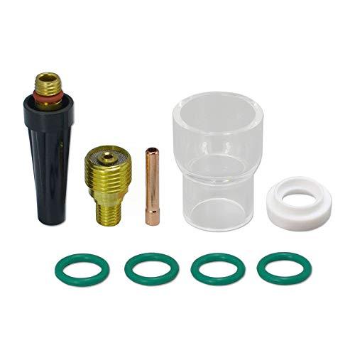 12 Pyrex-glazen schalen-gaslensen-spantangen-kit voor WP 9 20 25 Wig lasbranders 9 PK
