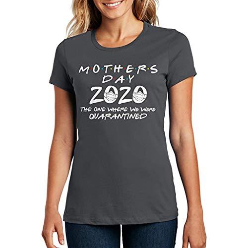 KPILP 2020 Muster Drucken Oberteile Hemd Tops Bluse Sommer Mama Shirt Kurzarm Rundhals Tops