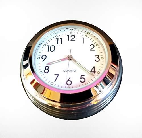 Time 4 Bikes Royal Enfield Interceptor & Continental GT Stem Nut Cover mit Uhr (weißes Zifferblatt)