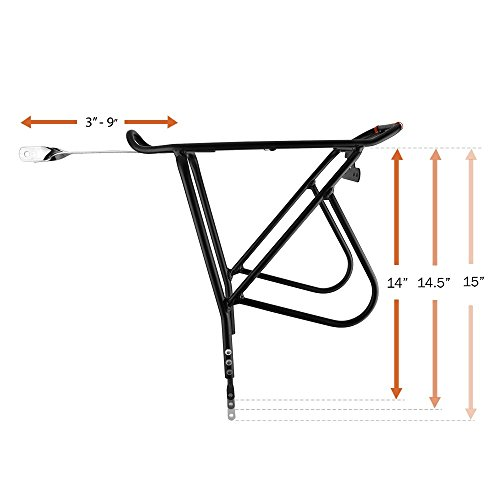 41J8W+MED0L Ibera Bike Rack – Bicycle Touring Carrier with Fender Board
