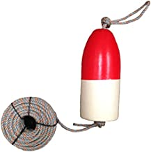 KUFA 100' leaded core rope & 11'' Red/White float combo FWL-100