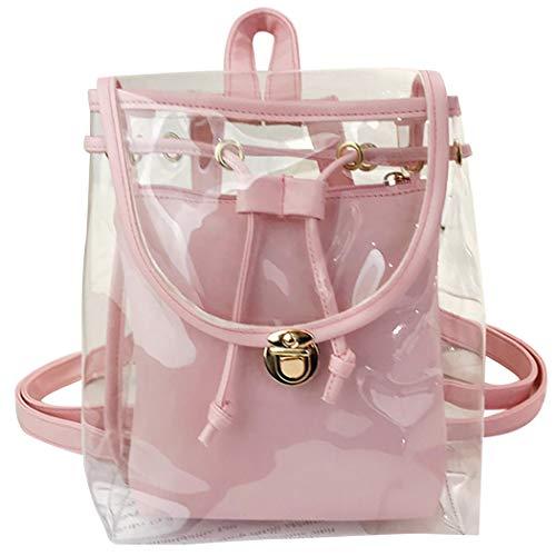 Fanpack Transparant rugzak dames vrouwen rugzak minimalistisch doorzichtig casual rugzak reisrugzak
