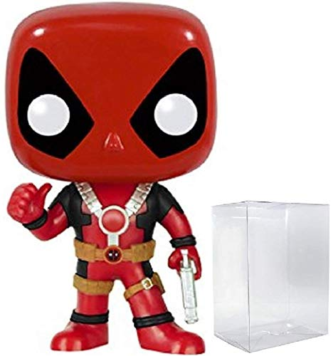 Marvel: Deadpool with Thumbs Up Funko Pop! Vinyl Figure (Includes Compatible Pop Box Protector Case)