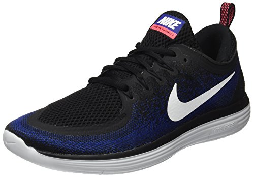 Nike Free RN Distance 2, Zapatillas de Running para Hombre, Multicolor (Black/White/Deep Royal Blue/Hot Punch), 44.5 EU