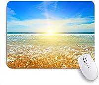 NIESIKKLAマウスパッド 夜明け幻想的な日の出海曇り自然屋外海岸太陽光線夕暮れ ゲーミング オフィス最適 高級感 おしゃれ 防水 耐久性が良い 滑り止めゴム底 ゲーミングなど適用 用ノートブックコンピュータマウスマット