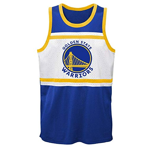 OuterStuff NBA Trikot Golden State Warriors Stephen Curry Basketball Jersey Player Sublimated Shooter Tank Shirt (XL)